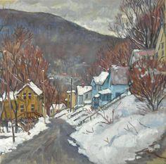 Towards Vermont Winter Snow Original Oil on by wickstromstudio, $350.00