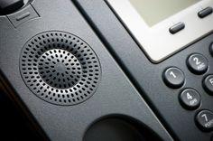 Digital Voip Conference Phone Speaker Closeup Stock Photo 182471336