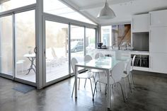 Former garage in Bordeaux, France By: Fabre/deMarien Tip: Use unexpected areas for living.  This amazing renovation from French architecture and design firm Fabre/deMarien transformed an unused garage into a chic living space.
