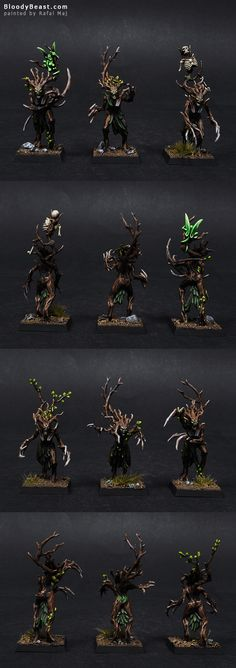 Wood Elf Dryads painted by Rafal Maj (BloodyBeast.com)