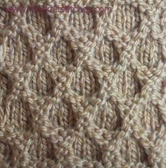 Reticular knitting stitches