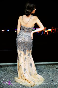 Jovani Strapless Nude Evening Gown! Anna Kotlova Photography