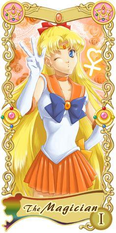 Pretty Guardian Sailor Moon Original Tarot Cards: I - The Magician | by Ryukia @ Pixiv.net // #sailormoon
