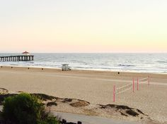 Life is better at the beach. Manhattan Beach, CA. The Strand at sunset