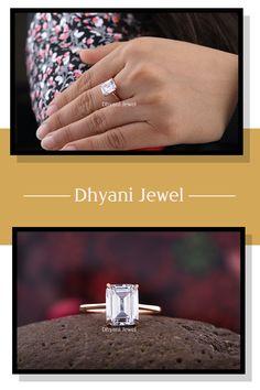 Emerald Shaped Engagement Ring, Custom Rose Gold Ring, Solitaire Diamond Ring, Moissanite Engagement ring, Custom Promise Ring #customengagementring #ringspiration #fancydiamond #ringoftheday #jewelers #estatejewelry #engagementrings #solitaire #14kgold #sapphireengagementring #moissanitejewelry #jewelryporn #finejewellery #engagementring #jewelrylover #luxuryjewellery #customring #sapphirejewelry #moissanitering #handmaderings #instarings #rosegoldring #loverings #moissaniteringph…
