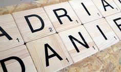 Scrabble letras de madera para decorar. Madera maciza. Visite nuestra tienda online