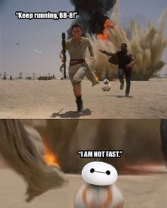 Keep Running, BB8!- - [Star Wars The Force Awakens & Big Hero 6]