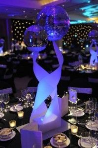 Twisted Stand With Mirrorballs | Party Table Decoration