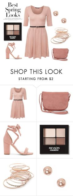 """""""Spring 3 mauve"""" by citas ❤ liked on Polyvore featuring H&M, Miso, TOMS, Raye, Revlon, Red Camel and claire's"""