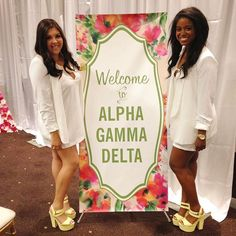 """Hi! Welcome to Alpha Gamma Delta!"" #AlphaGamAsu"