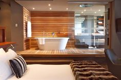 Luxury Bathroom Master Baths Rustic is categorically important for your home. Whether you pick the Luxury Bathroom Master Baths Dark Wood or Dream Master Bathroom Luxury, you will create the best Bathroom Ideas Master Home Decor for your own life. Open Plan Bathrooms, Open Bathroom, Bathroom Plans, Ensuite Bathrooms, Grey Bathrooms, Bathroom Sets, Bathroom Bin, Bedroom With Bath, Master Bedroom Bathroom