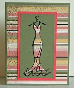 Haute Couture Dress by vsstampgirl - Cards and Paper Crafts at Splitcoaststampers