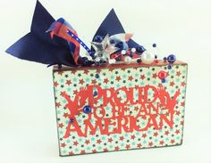 AG Designs Patriotic Decor  Small Box Sign - Proud To Be An American - by AgapeGiftsOnline