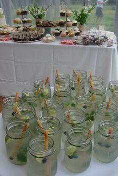 mojito in mason jar #cocktail #weddingcocktail