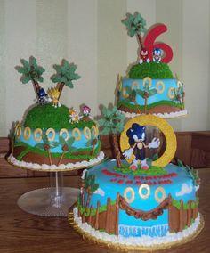 Sonic the Hedgehog Cake Topper Sonic Birthday Cake, Sonic Birthday Parties, 7th Birthday Cakes, Picnic Birthday, Birthday Celebration, Bolo Sonic, Sonic Cake, Sonic Party, Sonic Kuchen