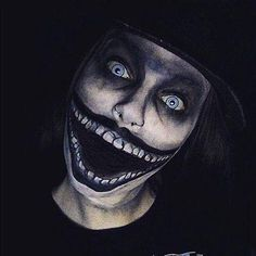 Image Collection #5: Fantasy Witches, Monsters and Demons  This optical illusion makeup is very obviously disturbing.(Babadook)