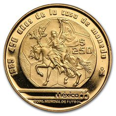 1985 MX Mexico Gold 250 Pesos Proof Gold About Uncirculated >>> To view further for this item, visit the image link. (This is an affiliate link and I receive a commission for the sales)