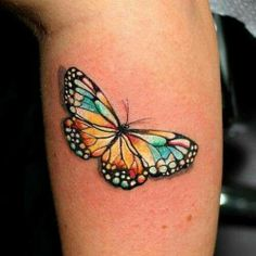 No Outline 3d Butterfly Tattoo | Via Joe Cammilleri