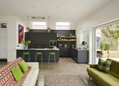 love this black kitchen by Roundhouse!