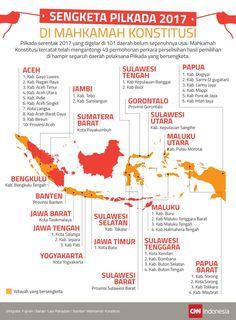 Peta Wilayah Sengketa Pilkada 2017 di Mahkamah Konstitusi