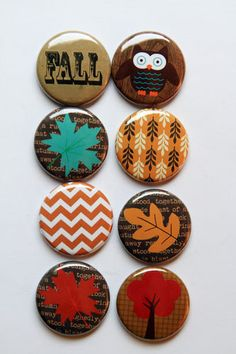 "Everyone - ck all the cool flair on Etsy - ""aflairforbuttons""  I bought some this wk and I LOVE them! Fall 3 Flair by aflairforbuttons on Etsy, $6.00"