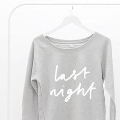Last Night Oversized Women's Sweater  Last by LetterClothingCo