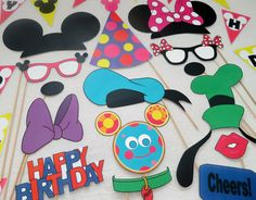 PDF - Minnie Mouse Birthday Party Photo Booth Props - printable / DIY