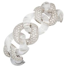 SEAMAN SCHEPPS Rock Crystal and Diamond Bracelet
