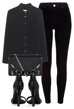 """""""Untitled #6819"""" by laurenmboot ❤ liked on Polyvore featuring River Island, Equipment and Yves Saint Laurent"""
