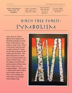Birch Trees and Symbolism- Native American Art Native American Symbols, Native American History, Indian Symbols, Indian Tribes, Woodland Indians, Symbols Of Strength, Symbols And Meanings, Symbol Design, American Indian Art