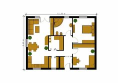 case cu doua dormitoare Two bedroom single story house plans 3 Two Bedroom House, Story House, Floor Plans, How To Plan, Case, Archaeology, Crying, Bedrooms, Houses