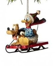jim shore 2014 donald duck and pluto on a snow sled snow sleddisney christmas