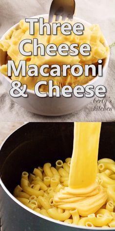 monterey jack mac and cheese recipe & mac and cheese with monterey jack ; monterey jack mac and cheese ; cheddar and monterey jack mac and cheese ; colby and monterey jack mac and cheese ; monterey jack mac and cheese recipe ; mac n cheese monterey jack Macaroni Cheese Recipes, Cheesy Recipes, Macaroni And Cheese Recipe With Gouda, Cheesy Mac And Cheese, Comida Diy, Good Food, Yummy Food, Think Food, Cooking Recipes