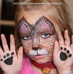 Halloween Face Painting Kitty Face