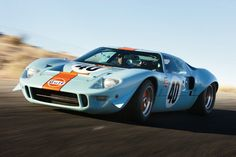 This Ford GT40 starred in the movie Le Mans with the famous Steve McQueen. In 1968 Jacky Ickx raced this car at Daytona.