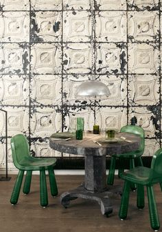 tin tiles - this is really cool for one wall or a ceiling maybe - wonder how expensive it would be