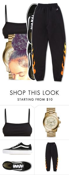 """164"" by jalay ❤ liked on Polyvore featuring Michael Kors and Vans"