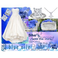 Something Blue Just For You! - Love at First Sight, Sponsored by Blue Nile, created by katherinekellys on Polyvore