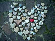 heart rocks-whenever I see hearts in nature, I think it is Mother Nature's way of telling us She loves us! :-)