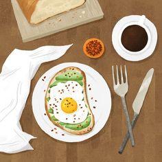 Art Et Illustration, Food Illustrations, 365 Kawaii, Instagram Blog, Food Drawing, Food Painting, Aesthetic Art, Cute Drawings, Food Art
