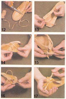 Artesanias de Cuero: Diseño y construcción de un mocasín indio de cuero Sewing Leather, Leather Pattern, Leather Shoes, Leather Bag Tutorial, Ballet Shoes, Dance Shoes, Beaded Moccasins, Felt Embroidery, Leather Working