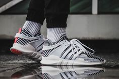 cheap for discount ae833 e630b adidas EQT Support ADV Primeknit Zebra On Feet Eqt Support Adv, All White,  Singapore
