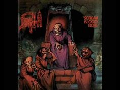 Great song from the album Scream Bloody Gore! Lyrics: Massacred, hacked to death, my revenge Slicing deep, into your flesh, the pain intense Dreams of. Metal Artwork, Cool Artwork, Scream, Bloo Me, Chuck Schuldiner, Classic Video, Metal Albums, Horror, Great Albums