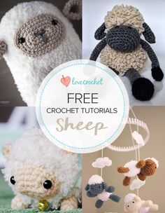 Pinteresting Projects: free sheep crochet patterns and tutorials on LoveCrochet