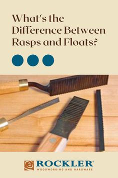 What's the difference between floats and rasps, other than the tooth patterns? Read now to learn what the difference is? #CreateWithConfidence #LearnWithRockler #Rasps #floats Rockler Woodworking, Woodworking Hand Tools, Beginner Woodworking Projects, Wooden Plane, By Plane, Power To The People, Wood Working For Beginners, Teeth Cleaning, Different