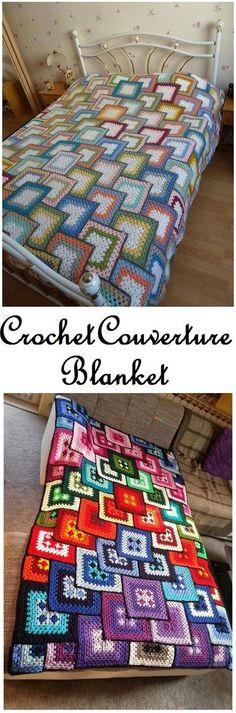 Crochet Block Blanket Free Pat
