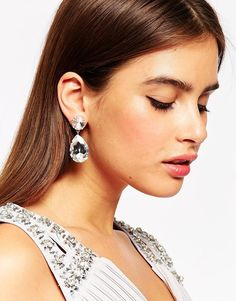 Image 3 ofKrystal Swarovski Crystal Pear Drop Earrings