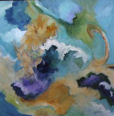 """""""Ocean Jewels"""" 36"""" sq. acrylic on canvas by Carol Gatchel"""