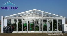 Exhibition Tent | Branch Launch | 15*40m tent with clear and white PVC fabric, glass window wall