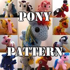 crochet pony patron applique - Buscar con Google